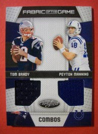 2010 Certified Fabric of the Game Combos Peyton Manning/Tom Brady