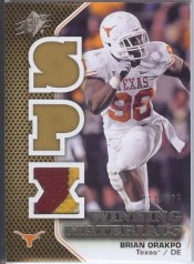 2010 UD SPx Brian Orakpo Winning Materials Patch