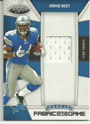 2010 Panini Certified Jahvid Best Fabrics of the Game