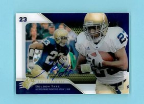 2010 Upper Deck Spx Shadow Box Auto Golden Tate