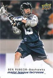 2010 Upper Deck Mll Lacrosse Ben Rubeor