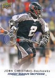 2010 Upper Deck Mll Lacrosse John Christmas
