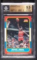 1986/87 Fleer Michael Jordan Rookie RC BGS 9.5