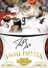 2010 Plates & Patches Drew Brees Signal Callers Autograph