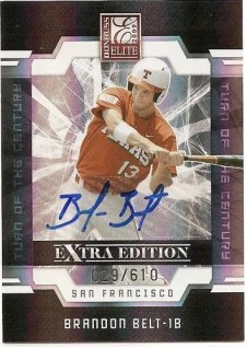 2010 Donruss EEE Brandon Belt Autograph Rookie RC