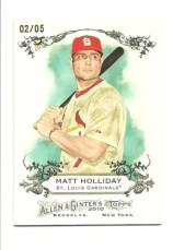2010 Topps Allen & Ginter Matt Holliday Rip Card