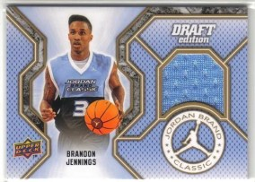 2010/11 UD Draft Edition Brandon Jennings Jordan High School Jersey
