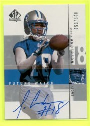 2001 Sp Authentic Scotty Anderson Autograph RC Rookie