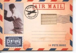 2010 Panini Century Collection Pete Rose Bat Air Mail