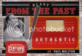2010 Panini Century Paul Molitor Blast From the Past Bat