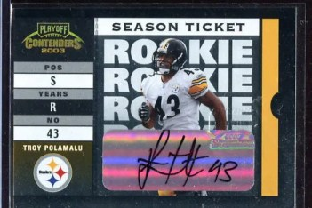 2003 Playoff Contenders Troy Polamalu Autograph Auto Rookie RC