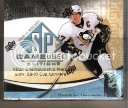 2010/11 Upper Deck UD Sp Game Used Hockey Hobby Box