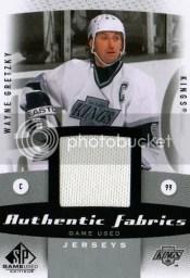 10/11 Sp Game Used Wayne Gretzky Jersey Authentic Fabrics