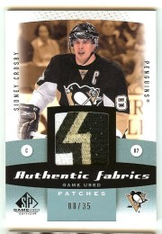 10/11 Sp Game Used Patch Sidney Crosby /35