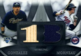 2010 Bowman Sterling Dual Relic Gonzalez/Morneau