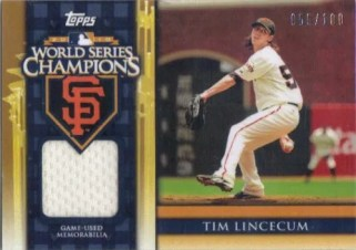 2011 Topps Tim Lincecum World Series Jersey