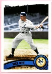 2011 Topps Series 1 Mel Ott SP Variation Base Card #250
