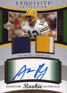 2005 Upper Deck Exquisite Aaron Rodgers Rookie RC Auto