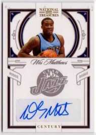 2009/10 Panini National Treasures Wesley Wes Matthews Autograph Rookie Card