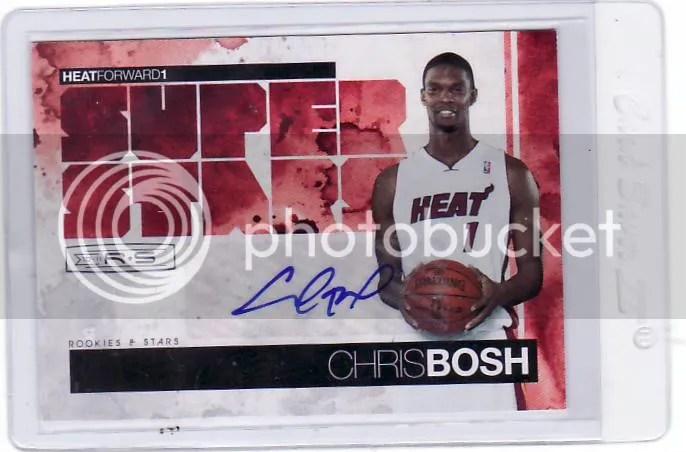 2010/11 Panini Rookies and Stars Super Stars Chris Bosh Autograph #/10
