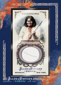 2011 Allen & Ginter Geronimo DNA Hair Card