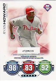 2010 Topps Attax Ryan Howard