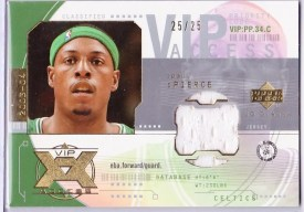 03/04 UD Glass VIP Access Paul Pierce Jersey Card
