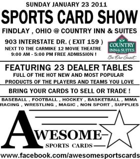 Findlay Ohio OH Sports Card Show