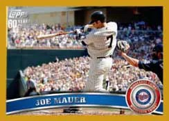 2011 Topps Series 2 Joe Mauer Gold /2011