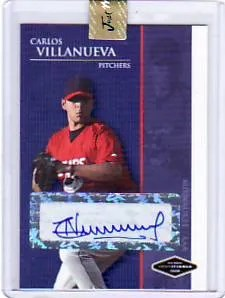 2009 Just Minors Carlos Villanueva Autograph Card
