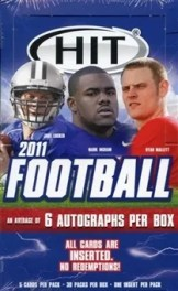 2011 Sage Hit Low Series Football Box