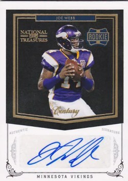 2010 Playoff National Treasures Joe Webb Autograph RC Card