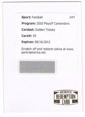 2010 Playoff Contenders Roger Staubach Golden Ticket