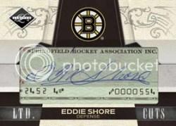 2010/11 Panini Limited Eddie Shore Cut Signature Autograph