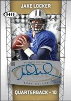 2011 Sage Jake Locker Autograph Rookie RC