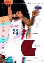 03/04 UD Glass LeBron James Game Gear Jersey Card