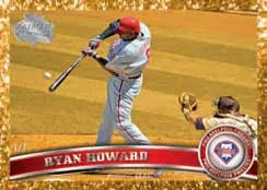 2011 Topps Series 2 Ryan Howard Canary Diamond Anniversary #/1