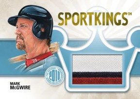 2010 Sportskings Gum Mark McGwire Single Memorabilia Jersey Card
