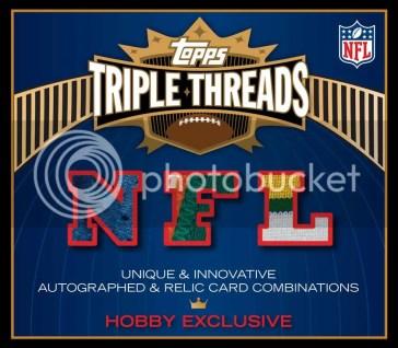 2010 Topps Triple Threads Football Hobby Box