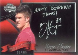 2011 Topps 60th Anniversary Autograph Bryce Harper Happy Birthday