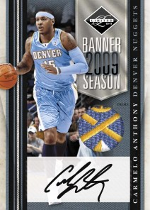 2010/11 Panini Limited Carmelo Anthony Banner Season