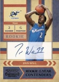 2010/11 Panini ROY Contenders Patches John Wall Autograph Card
