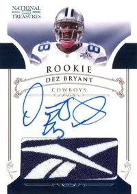 2010 Panini National Treasures Dez Bryant Reebok Patch Autograph RC