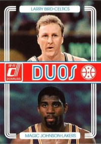 2010-11 Panini Donruss Larry Bird Magic Johnson Duos Insert Card
