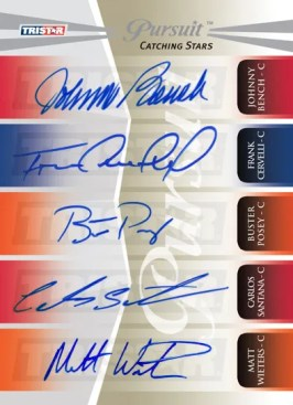 2011 TriStar Pursuit 5 Autograph Catchers Posey Bench