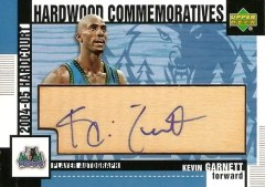 2004/05 UD Hardcourt Kevin Garnett Commemoratives Autograph