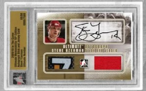 10/11 ITG Auto Stick and Jersey Steve Yzerman
