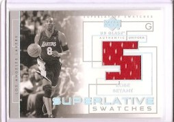 03/04 UD Glass Kobe Bryant Superlative Swatches Kobe Bryant Jersey