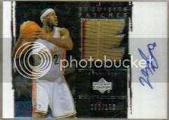2003/04 UD Exquisite LeBron James Autograph Auto