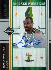 2010/11 Panini Limited Retired Numbers Sidney Moncrief Autograph
